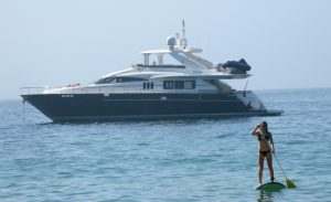 Yacht and SUP in South Africa