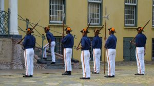 Armed soliders guarding Castle of Good Hope in Cape Town