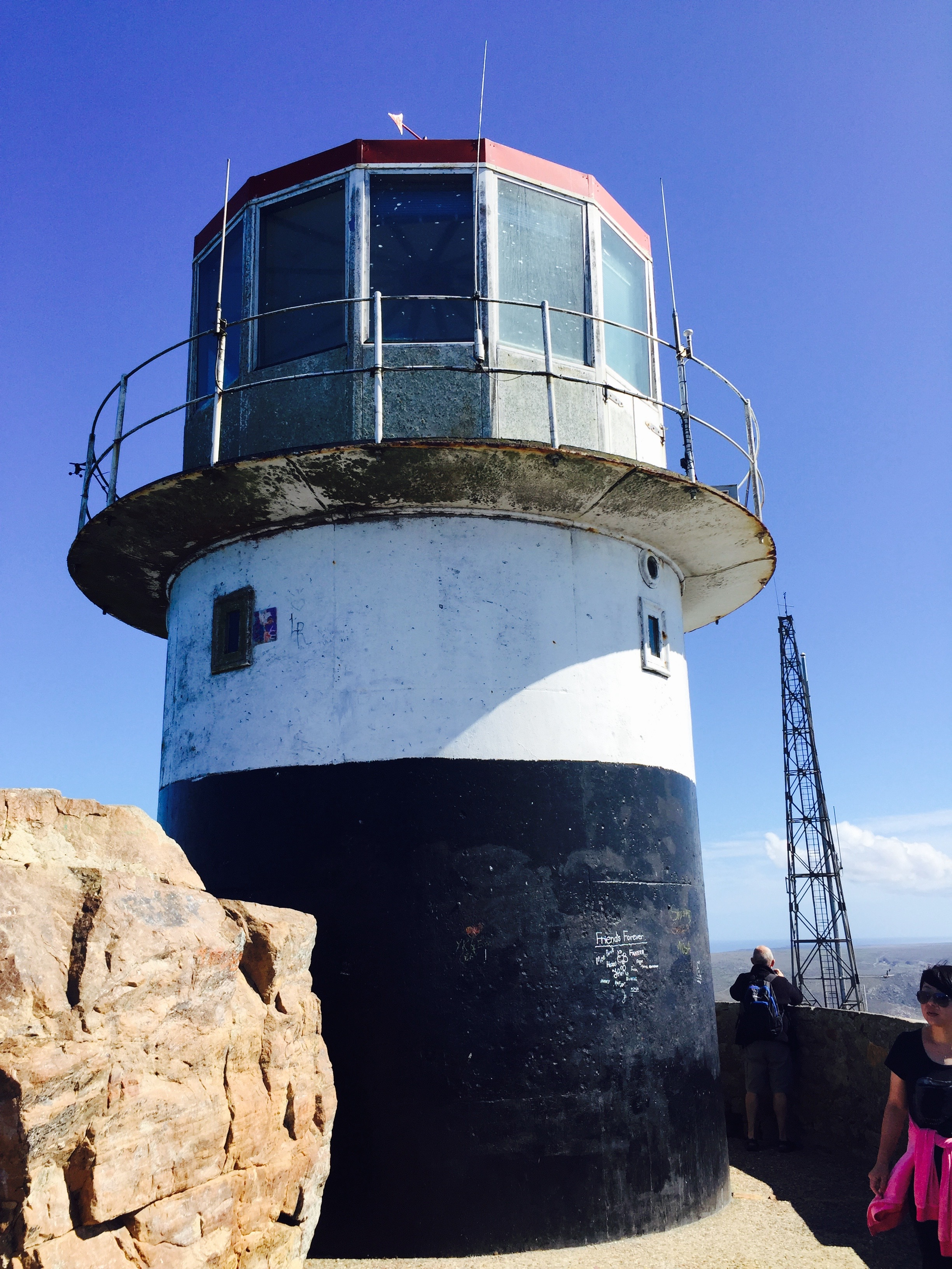 Historical lighthouse in Cape Point, South Africa