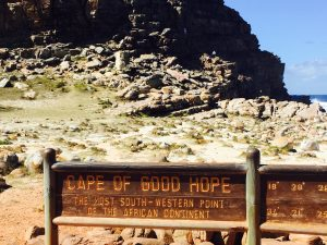 Wooden signage indicating Cape of Good Hope
