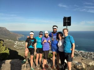 Table Mountain hiking trail in Cape Town South Africa