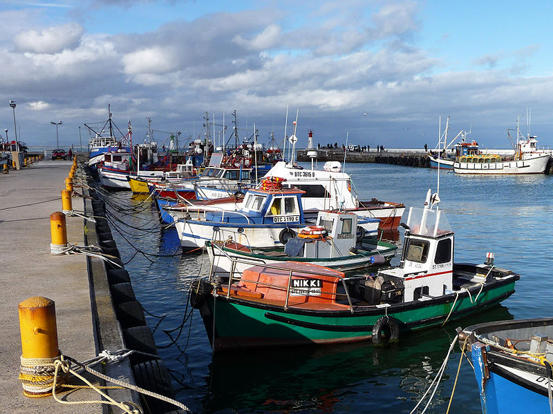 Fishing boats in Kal Bay harbour near Cape Town